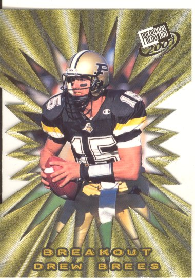 2001 Press Pass Breakout #B1 Drew Brees
