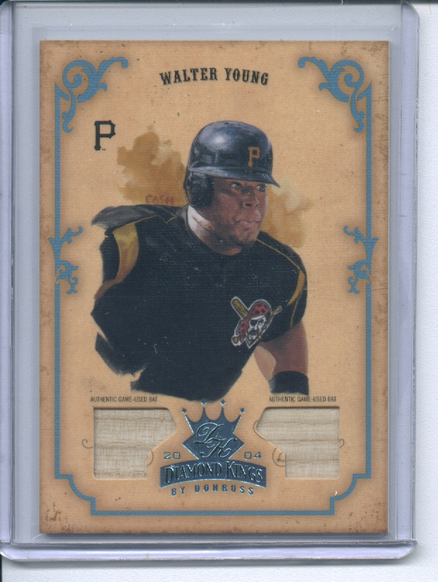 2004 Diamond Kings DK Combos Platinum #62 Walter Young Bat-Bat