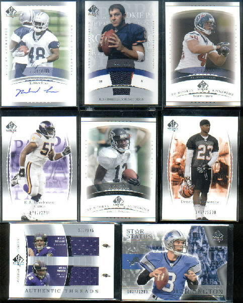 2003 SP Authentic Threads Doubles #KBMS Kyle Boller/Musa Smith