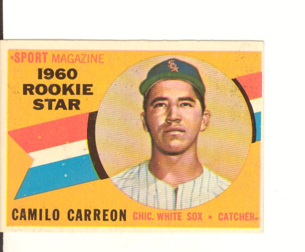 1960 Topps #121 Camilo Carreon RS RC
