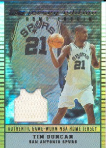 2002-03 Topps Jersey Edition Copper #JETDU Tim Duncan H