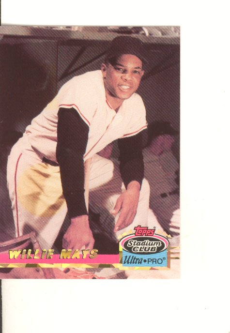 1993 Stadium Club Ultra-Pro #2 Willie Mays/Leaning on bat