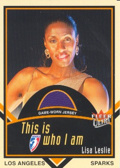 2003 Ultra WNBA Who I AM Game Used #7 Lisa Leslie