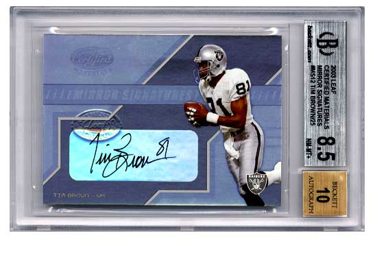 2003 Leaf Certified Materials Mirror Signatures #MS12 Tim Brown/25