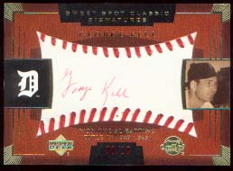 2004 Sweet Spot Classic Signatures Red #38 George Kell/10