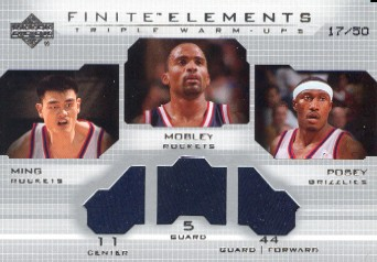 2003-04 Upper Deck Finite Elements Warmups #FE35 Yao Ming/Cuttino Mobley/James Posey