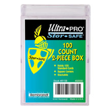 Ultra Pro 100 Count 2 Piece Plastic Storage Box for gaming & sportscards !!