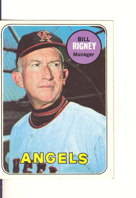 1969 Topps #182 Bill Rigney MG