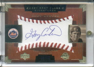 2004 Sweet Spot Classic Signatures Blue #24 Gary Carter/75