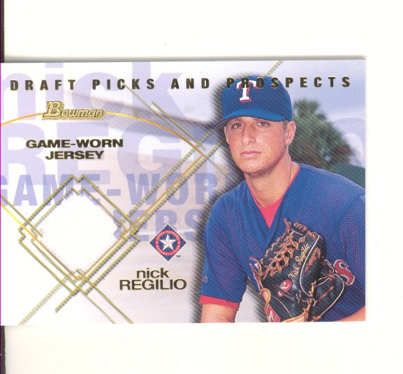 2001 Bowman Draft Picks and Prospects #BDPR-NR, Nick Regilio, Game-Worn Jersey , NM-MT,  $9.00