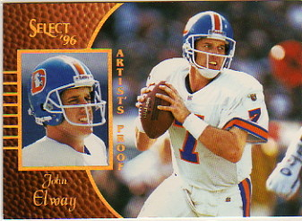 1996 Select Artist's Proofs #40 John Elway