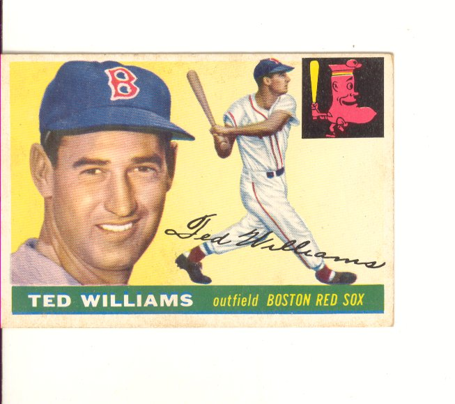 1955 Topps #2 Ted Williams front image