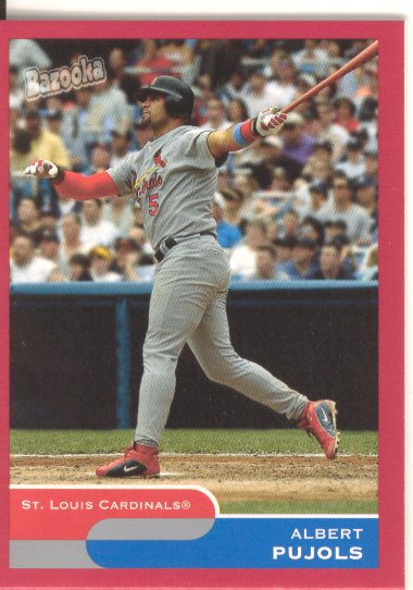 2004 Bazooka Red Chunks #50B Albert Pujols Two Hands