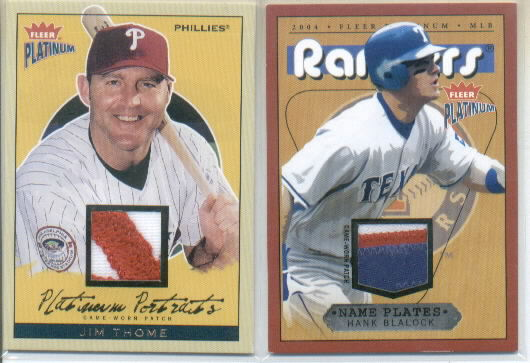 2004 Fleer Platinum Portraits Game Patch #JT Jim Thome