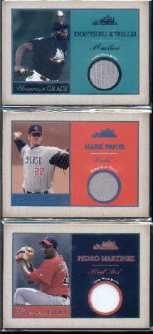 2004 Fleer Showcase Grace Game Used Reward #MPR Mark Prior Jsy/50