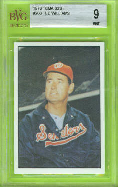 1978 TCMA 60's Series 1 #260 Ted Williams Beckett Vintage Graded BVG Mint 9 front image