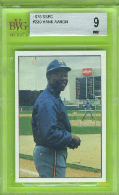 1976 SSPC #239 Hank Aaron Beckett Vintage Graded BVG Mint 9 front image