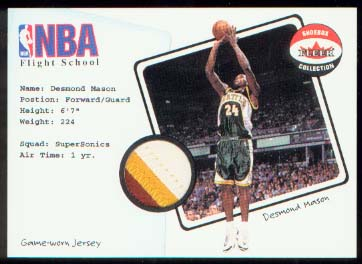 2001-02 Fleer Shoebox NBA Flight School Captain #2 Desmond Mason