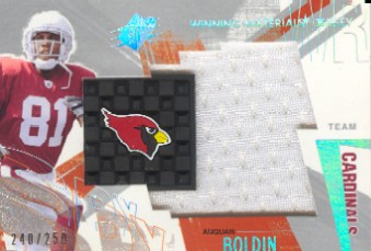 2003 SPx Winning Materials Team Logos #AN Anquan Boldin/250