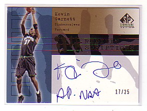 2003-04 SP Signature Edition INKcredible INKscriptions #KG Kevin Garnett/All NBA front image