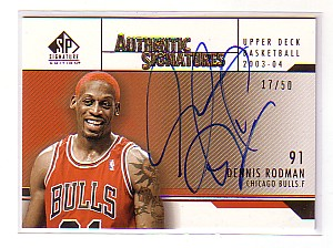 2003-04 SP Signature Edition Signatures Gold #DR Dennis Rodman