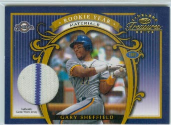 2003 Timeless Treasures Rookie Year #19 Gary Sheffield Jsy/100
