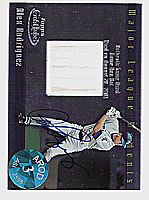 2002 Topps Gold Label Major League Moments Relics Platinum #AR Alex Rodriguez Bat