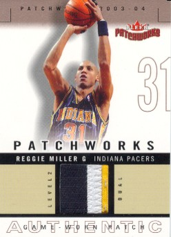 2003-04 Fleer Patchworks Jerseys Multi Color #RM Reggie Miller