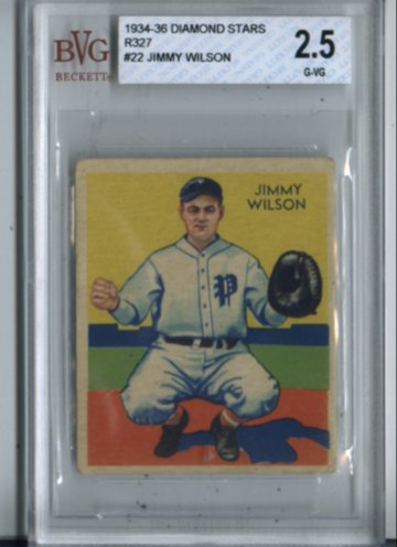 1934-36 Diamond Stars R327 #22 Jimmy Wilson BVG Vintage 2.5 Philadelphia NICE!!
