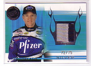 2004 Press Pass Premium Hot Threads Drivers Silver #HTD6 Mark Martin
