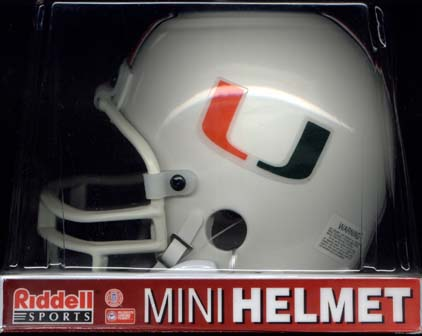 Univercity of Miami, Hurricaness Riddell Mini Helmet