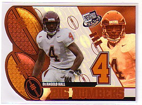 2004 Press Pass Big Numbers #BN8 DeAngelo Hall