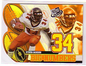 2004 Press Pass Big Numbers #BN9 Steven Jackson