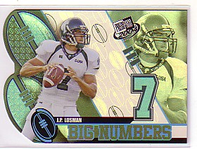 2004 Press Pass Big Numbers #BN14 J.P. Losman