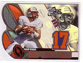 2004 Press Pass Big Numbers #BN20 Philip Rivers