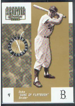 2003 Donruss Signature Notable Nicknames Decade #7 Duke Snider