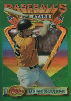 1993 Finest Refractors #92 Mark McGwire AS front image