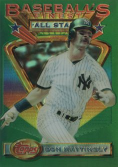 1993 Finest Refractors #98 Don Mattingly AS front image