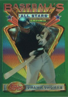 1993 Finest Refractors #102 Frank Thomas AS front image