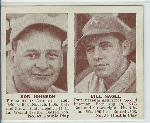 1941 Double Play #49 Bob Johnson/Bill Nagel XRC