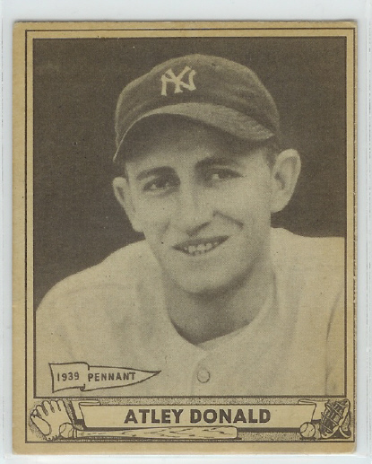 1940 Play Ball #121 Atley Donald RC