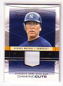 2004 Flair Diamond Cuts Game Used Platinum #HM Hideki Matsui Base/16