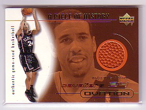 2000-01 Upper Deck Ovation A Piece of History #AMB Andre Miller
