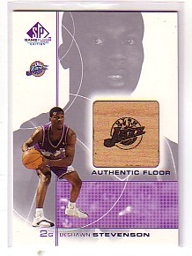 2000-01 SP Game Floor Authentic Floor #DS DeShawn Stevenson