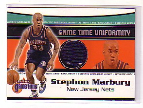 2000-01 Fleer Game Time Uniformity #9 Stephon Marbury
