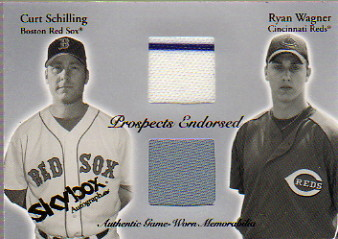2004 SkyBox Autographics Prospects Endorsed Dual Jersey #CSRW Curt Schilling/Ryan Wagner
