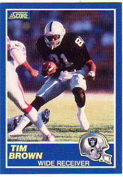 1989 Score #86 Tim Brown RC