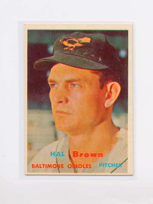 1957 Topps #194 Hal Brown