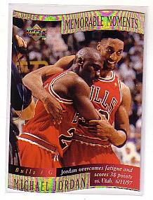 1997-98 Collector's Choice Memorable Moments #1 Michael Jordan