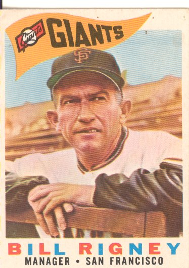 1960 Topps #225 Bill Rigney MG
